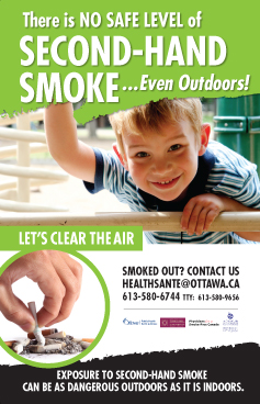 poster - There is NO safe level of second-hand smoke...even outdoors