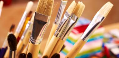 paint brushes, paint